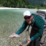 Silver ghost Grayling from the Sava Bohinjka river