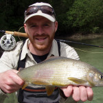 Significant representative of the Sava Bohinjka - grayling