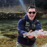 River born rainbow trout from the Radovna river - Slovenia