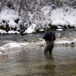 Rarely, but some times snow interferes in March`s fishing!