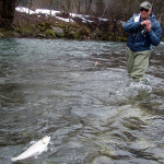 Seniors in fly fishing