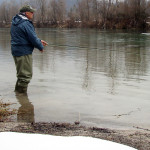 early days of the fly fishing season in Slovenia