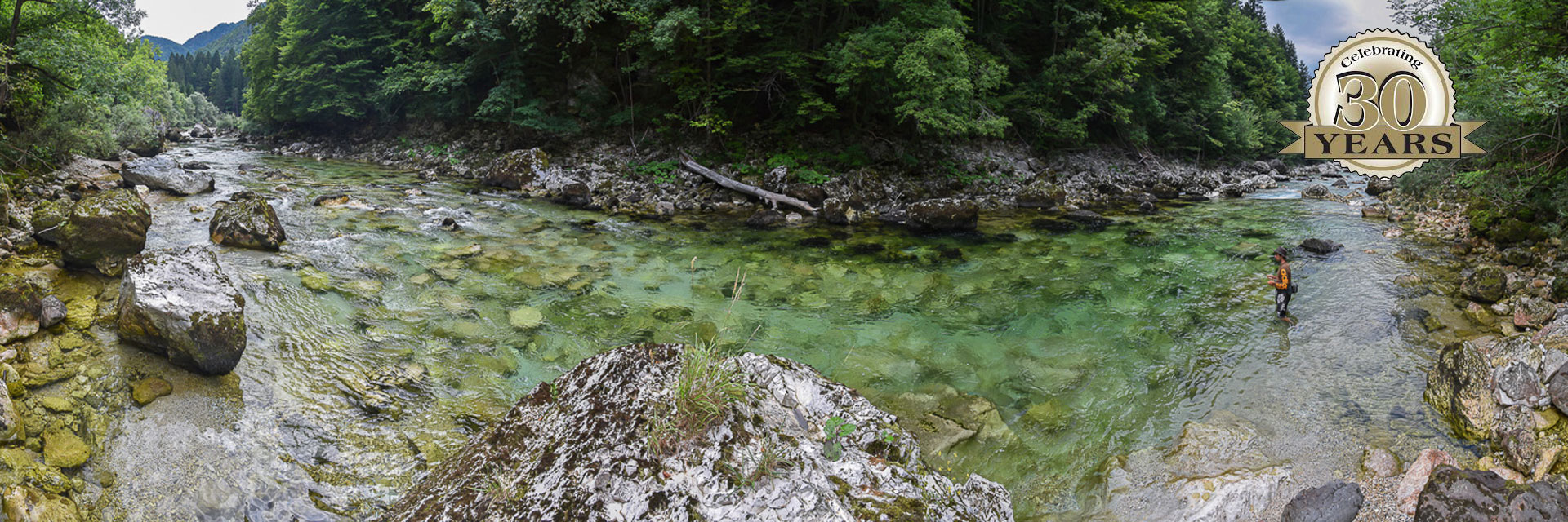 Fly fishing rivers in Slovenia
